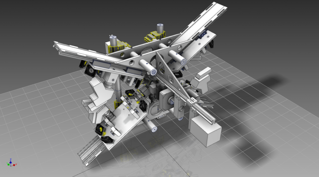 For the design of our microscope, we used extensively 3D mechanical CAD and optical simulation programs
